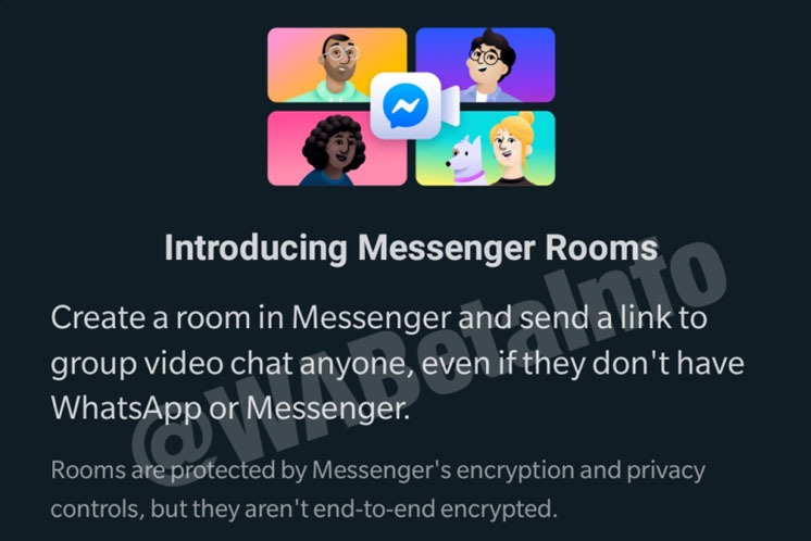 [UPDATE: Integration coming to WhatsApp Web as well ] Messenger Rooms coming to WhatsApp.