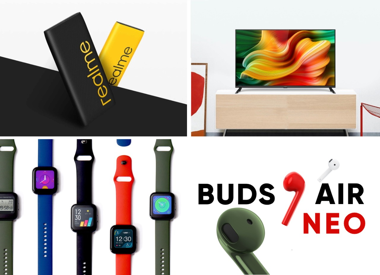 Realme launched their first smartwatch and TV series along with another fully wireless earbuds and second generation powerbank.
