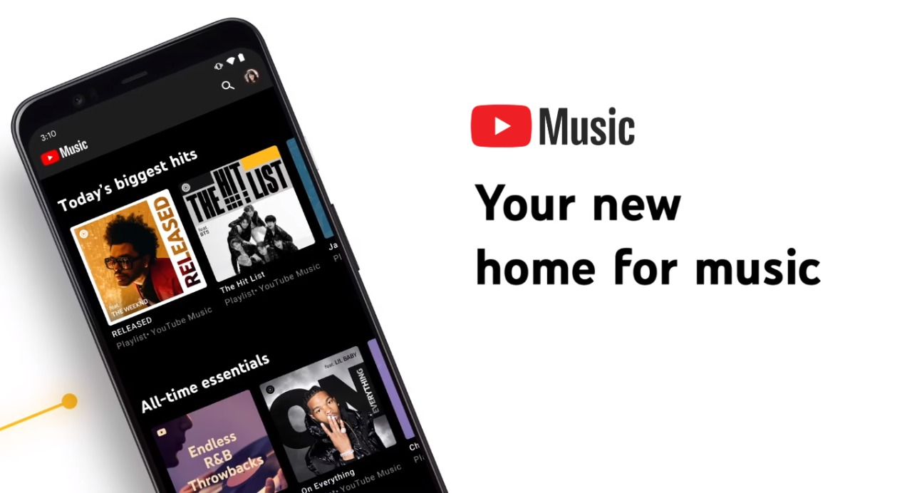Google to replace Play Music by YouTube Music.