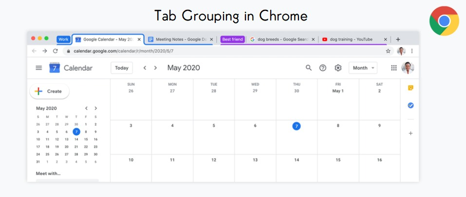 Chrome rolls out Tab grouping feature.