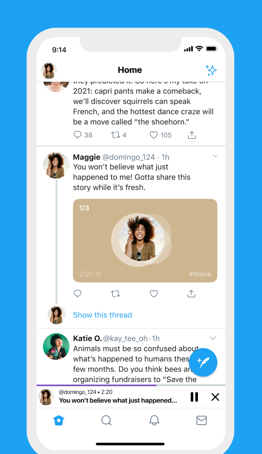 Twitter rolls out Audio Tweets
